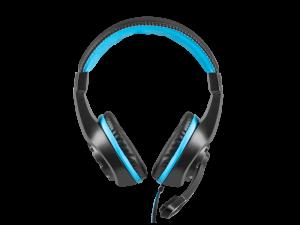 Słuchawki przewodowe z mikrofonem Fury Wildcat, nauszne, czarno-niebieski