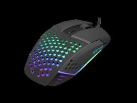 Mysz przewodowa Fury Battler, podświetlenie, optyczna, czarny