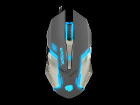 Mysz przewodowa Fury Warrior, podświetlenie, optyczna, czarny