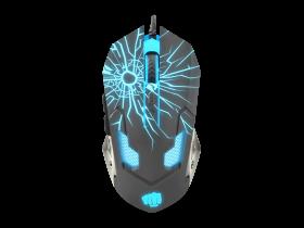 Mysz przewodowa Fury Gladiator, podświetlenie, optyczna, czarny