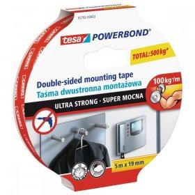 Taśma montażowa Tesa Powerbond, 19mmx5m, biały