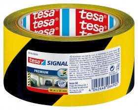 Taśma ostrzegawcza Tesa Signal 50mmx66m, żółto-czarny
