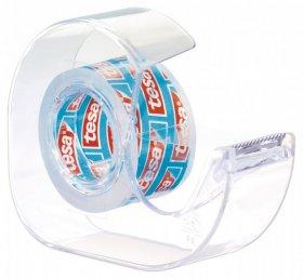 Podajnik do taśmy klejącej Tesa Crystal + taśma 19mmx10m, transparentny