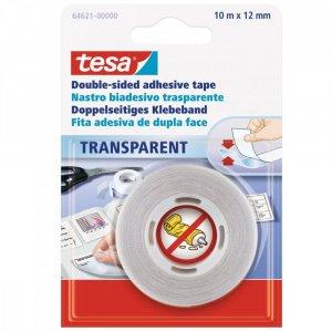 Taśma klejąca Tesa,12mmx10m, dwustronna, przezroczysty