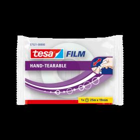 Taśma klejąca Tesa Film Urywana ręcznie, 19mmx25m, przezroczysty