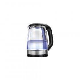Czajnik elektryczny MPM MCZ-78, szklany, podświetlany, 1.7l, czarno-srebrny