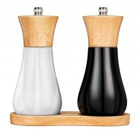 Zestaw młynków do soli i pieprzu MPM Smile SMP-9, 1 zestaw (2 sztuki), biało- czarny