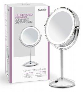 Lusterko do makijażu Babyliss 9436E, średnica 18cm, podświetlane, srebrny