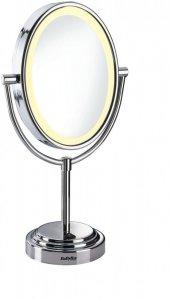 Lusterko do makijażu Babyliss 8437E, średnica 22cm, podświetlane, srebrny