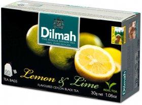 Herbata czarna aromatyzowana w torebkach Dilmah, Lemon & Lime, 20 sztuk x 1.5g