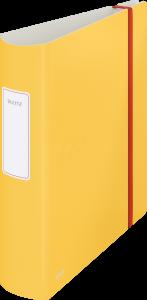Segregator Leitz 180° Active Cosy, A4, szerokość grzbietu 80mm, do 500 kartek, żółty
