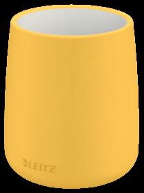 Kubek na długopisy Leitz Cosy, 85x108mm, żółty