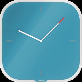 Zegar ścienny Leitz Cosy, 30x30x4cm, niebieski