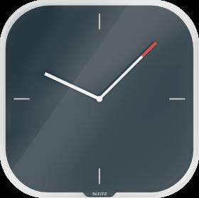Zegar ścienny Leitz Cosy, 30x30x4cm, aksamitny szary