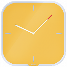 Zegar ścienny Leitz Cosy, 30x30x4cm, żółty