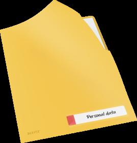 Folder z kieszonką na etykietę Leitz Cosy, A4, do 40 kartek, żółty