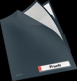 Folder z 3 przegródkami Leitz Cosy, A4, do 40 kartek, szary