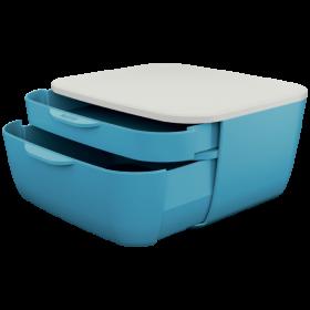 Pojemnik Leitz Cosy, z 2 szufladami, niebieski