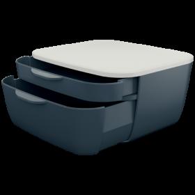 Pojemnik Leitz Cosy, z 2 szufladami, szary