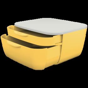 Pojemnik Leitz Cosy, z 2 szufladami, żółty