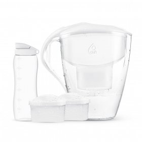 Dzbanek filtrujący Dafi Astra Unimax MI, 3.0l, biały + 2 filtry unimax standard + bidon, 0.6l, biały