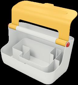 Pojemnik z uchwytem Leitz Cosy, żółty