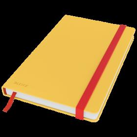 Notatnik w kratkę Leitz Cosy, A5, twarda oprawa, 80 kartek, żółty