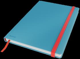 Notatnik w kratkę Leitz Cosy, B5, twarda oprawa, 80 kartek, niebieski