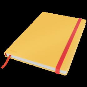 Notatnik w kratkę Leitz Cosy, B5, twarda oprawa, 80 kartek, żółty