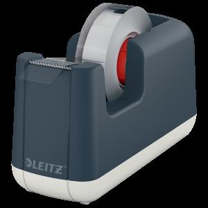 Podajnik do  taśmy klejącej Leitz Cosy, 19mmx33m, aksamitny szary