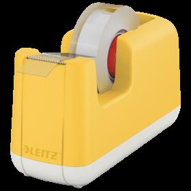 Podajnik do  taśmy klejącej Leitz Cosy, 19mmx33m, żółty