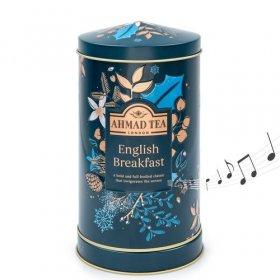Herbata czarna liściasta Ahmad Tea Twilight Round Music Caddy English Breakfast, w puszce z pozytywką, 80g
