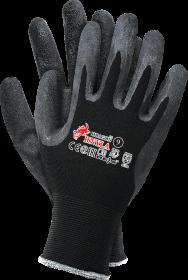 Rękawice powlekane Reis Dragon RNYLA B, rozmiar 7, czarny