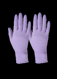 Rękawiczki jednorazowe winylowo - nitrylowe Grosik, bezpudrowe, rozmiar S, 100 sztuk, fioletowy (c)