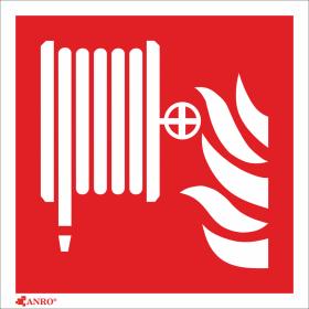 """Znak ochrony Anro, """"Hydrant wewnętrzny"""", płyta PCV, 150x150mm"""
