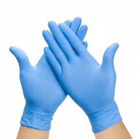 Rękawiczki jednorazowe nitrylowe, bezpudrowe, rozmiar XL, 100 sztuk, niebieski (c)