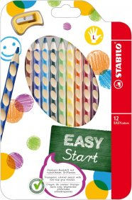 Kredki ołówkowe Stabilo EASYcolors L, dla leworęcznych, w etui z zawieszką, 12 sztuk, mix kolorów
