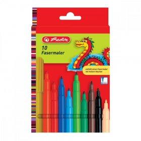Pisaki zmywalne Herlitz, okrągła, 2mm, 10 sztuk, mix kolorów