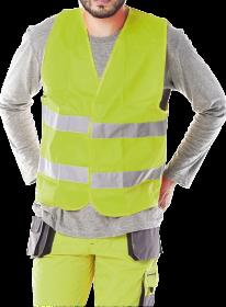 Kamizelka ostrzegawcza Reis, rozmiar XXXXL, żółty