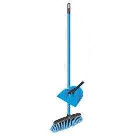 Zestaw do sprzątania Azur Combi, zmiotka+szufelka+miotła, mix kolorów