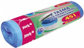 Worki na śmieci z taśmą York, 45l, 10 sztuk, niebieski