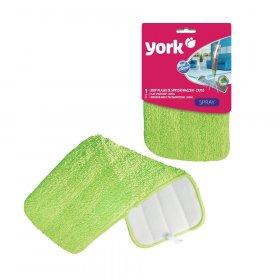 Mop płaski York,  końcówka (do mopa płaskiego York ze spyskiwaczem), zielony