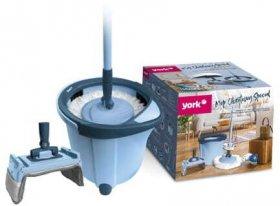 Mop obrotowy York Special, 2 końcówki (wkłady) +2 nakładki+kij+wiadro, niebieski