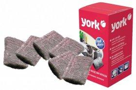 Czyścik kuchenny York, nasączony mydłem, wełna stalowa, 6x7cm, 6 sztuk, szary