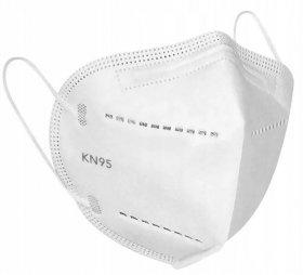 Maseczka ochronna FFP2 KN95, EN149:2001+A1:2009, higieniczna, pięciowarstwowa, z polipropylenu, 5 sztuk, biały (c)