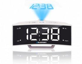 Radiobudzik z projektorem i ładowaniem USB Blaupunkt CRP7WH, biały