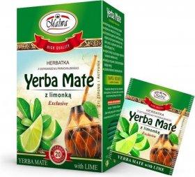 Herbata w kopertach Malwa Yerba Mate z limonką, 20 sztuk x 2g