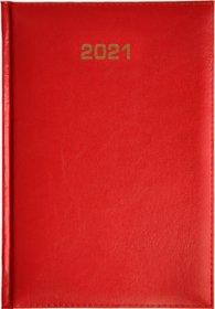 Kalendarz książkowy 2021, Bladek, A5, dzienny, czerwony