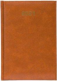 Kalendarz książkowy 2021, Bladek, A5, dzienny, jasny brąz