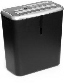 Niszczarka biurowa Wallner XD 805 CD, ścinek 4x45mm, 8 kartek, P-3/ T-2/ E-2 DIN, czarny